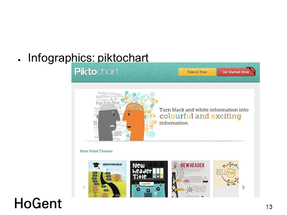 13 ● Infographics: piktochart