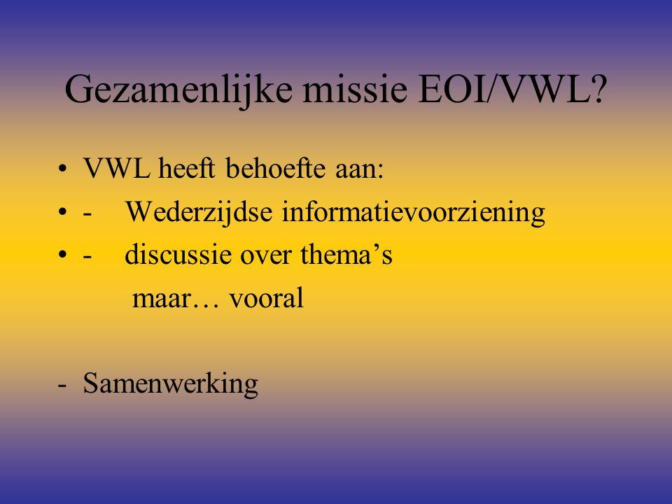 Gezamenlijke missie EOI/VWL.