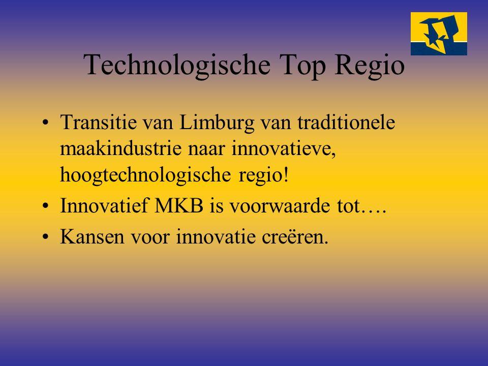 Technologische Top Regio Transitie van Limburg van traditionele maakindustrie naar innovatieve, hoogtechnologische regio! Innovatief MKB is voorwaarde