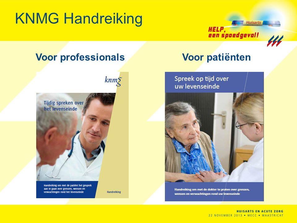 KNMG Handreiking Voor professionalsVoor patiënten