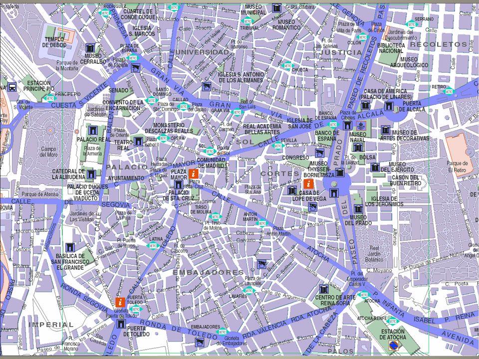 Geschiedenis Nooit sporen gevonden van Romeinen en Visigoten 9 de e: in handen van de Moren (onderdeel van El Andalus) 1083: Alfons VI van Castilië brengt het terug in katholieke handen 1123: stadsrechten 1492: eenmaking Spanje Tot 16-17 de e: veel Moren en sefardische joden 1561: Filips II maakte Madrid tot hoofdstad