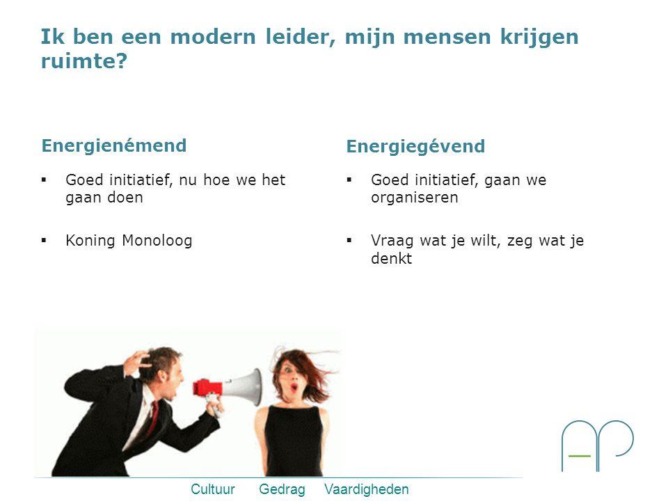 Cultuur Gedrag Vaardigheden Een leiderschapstraject van Anders Presteren  Zeer veel ruimte voor spelende bedrijfs- en afdelingsthema's en inbreng van medewerkers.
