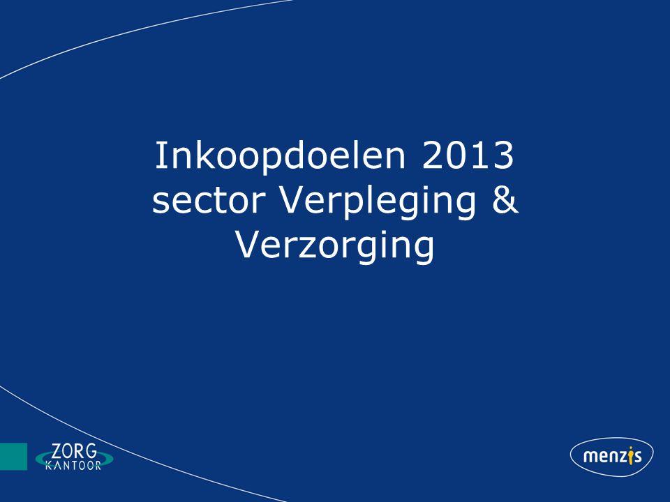 Inkoopdoelen 2013 sector Verpleging & Verzorging