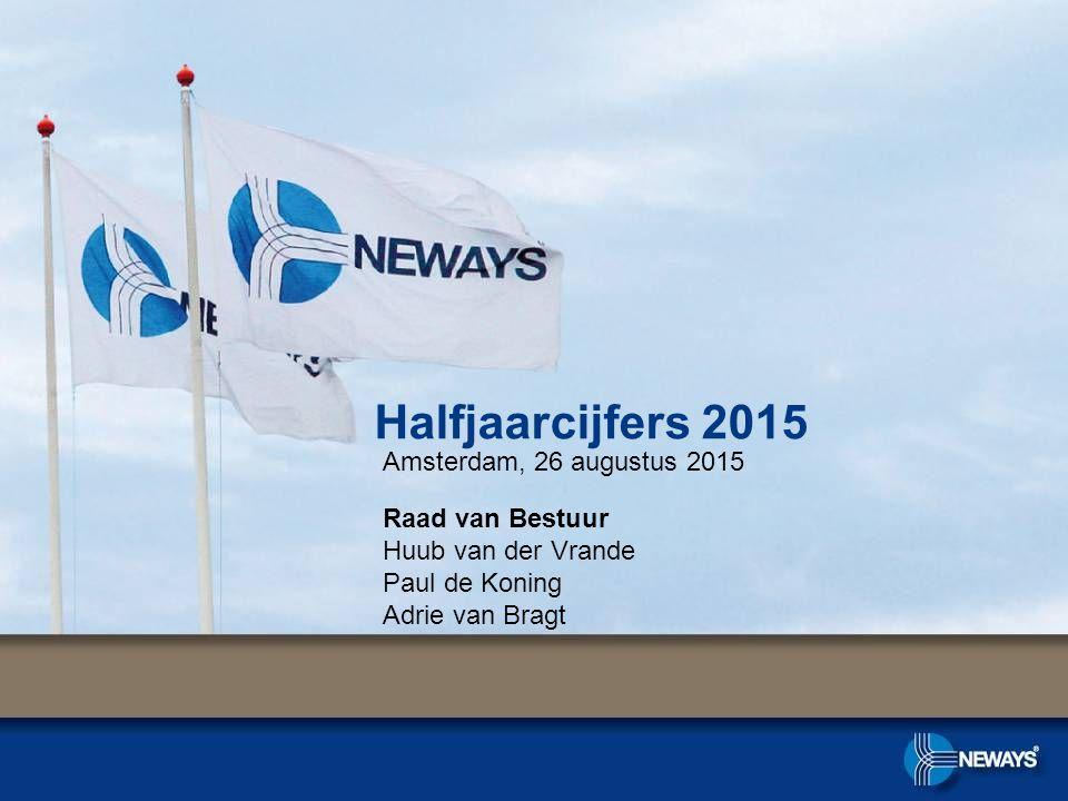 Halfjaarcijfers 2015 Amsterdam, 26 augustus 2015 Raad van Bestuur Huub van der Vrande Paul de Koning Adrie van Bragt