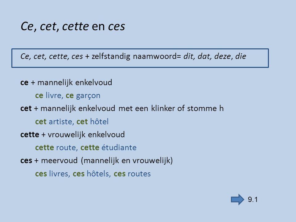 Met -ci of -là Met -ci of -là achter het zelfstandig naamwoord: nadruk Dichtbij: -ci Ce stylo-ci est à toi.