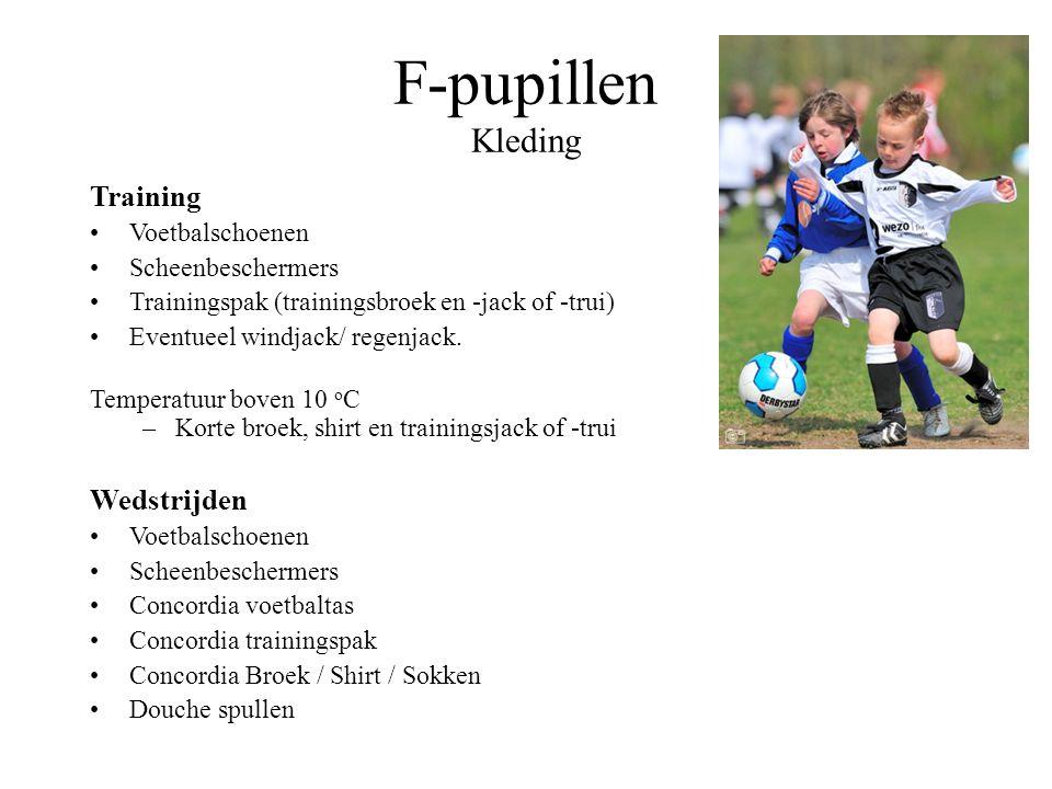 F-pupillen Trainers / Coaches seizoen 2015/2016 MaandagWoensdagZaterdag F1Ron SchumacherErwin DodemondtRon en Erwin F2Jeroen vd BoogaardRob de BoerJer