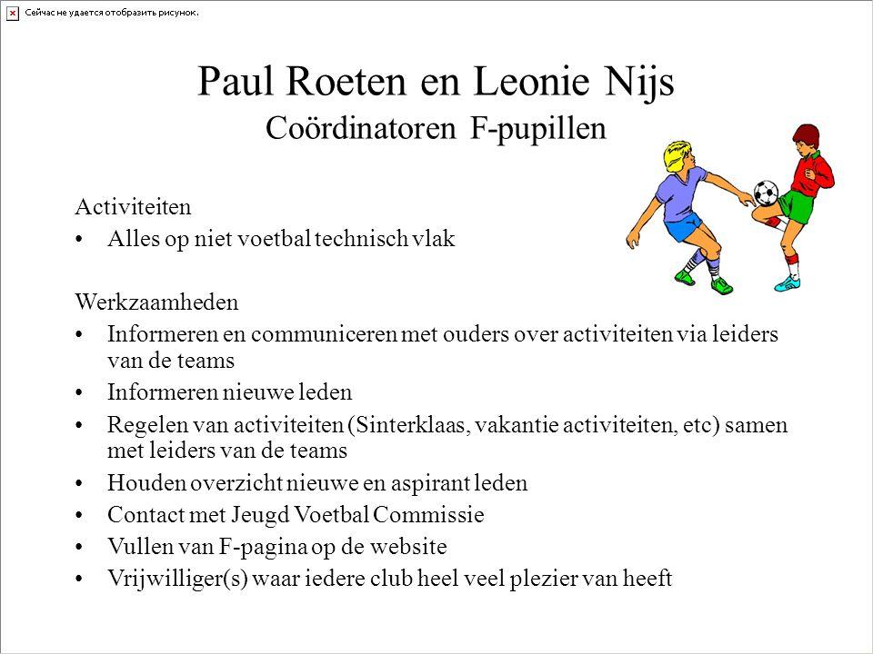 F-pupillen Gezocht Trainers / Coaches Veldcoördinator 2 Ouders t.b.v.