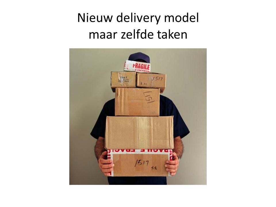 Nieuw delivery model maar zelfde taken
