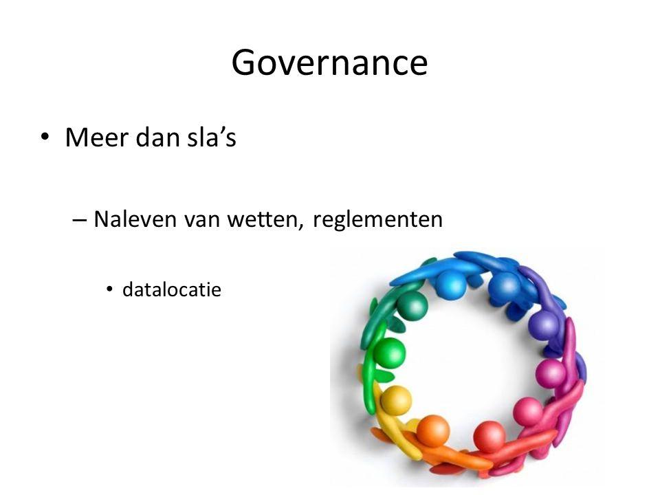Governance Meer dan sla's – Naleven van wetten, reglementen datalocatie