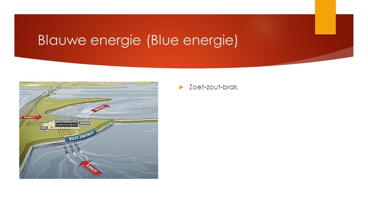 Blauwe energie (Blue energie)  Zoet-zout-brak