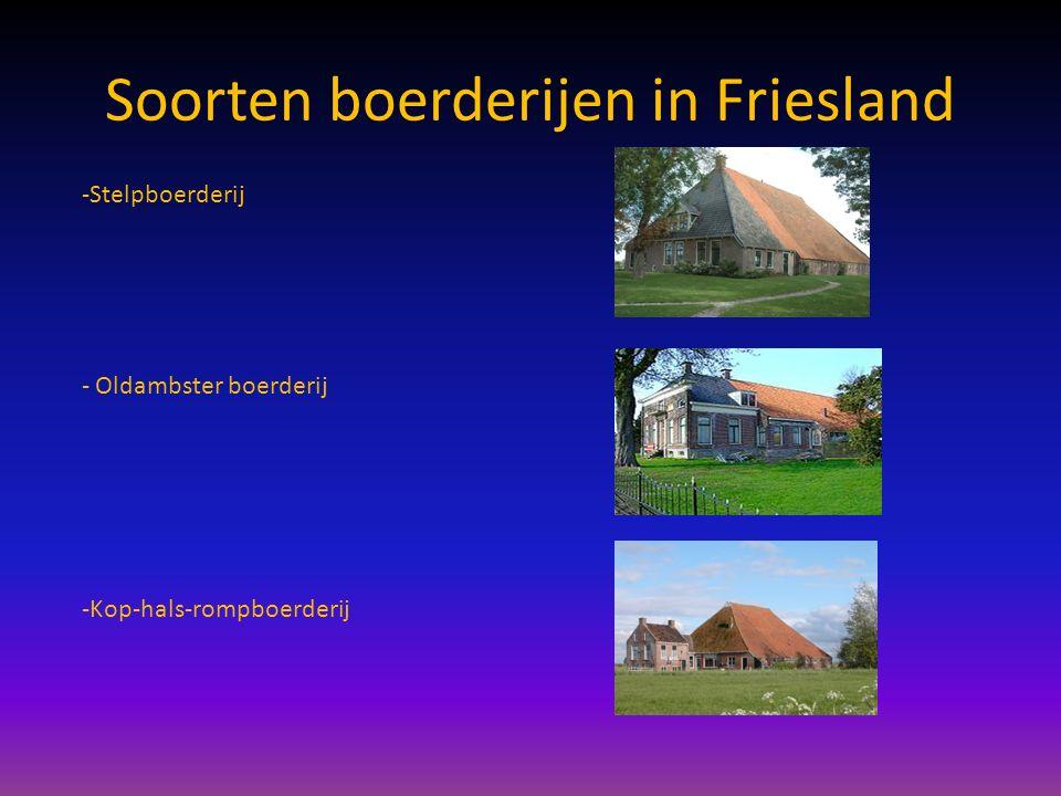 Soorten boerderijen in Friesland -Stelpboerderij - Oldambster boerderij -Kop-hals-rompboerderij