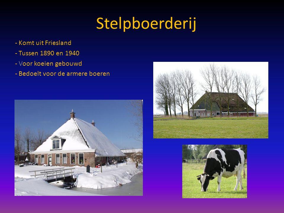 Oldambster boerderij -In 1720 kwam de boerderij in het noorden -Voor koeien en voor het laten groeien van eten -Later werden de boerderijen vaak gebouwd voor de boeren die eten groeiden -Villaboerderijen