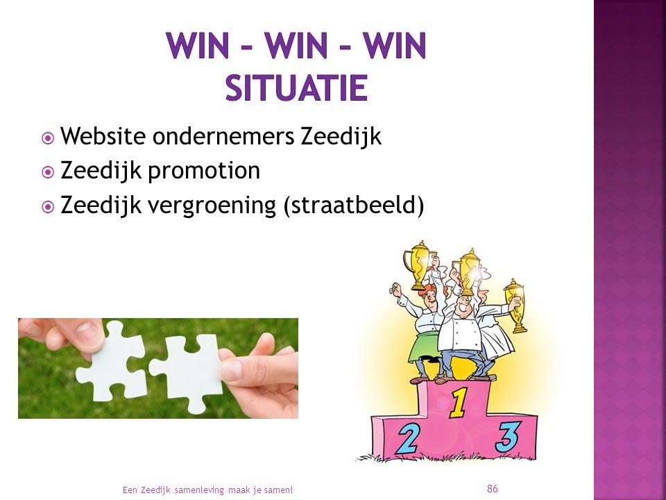  Website ondernemers Zeedijk  Zeedijk promotion  Zeedijk vergroening (straatbeeld) Een Zeedijk samenleving maak je samen! 86