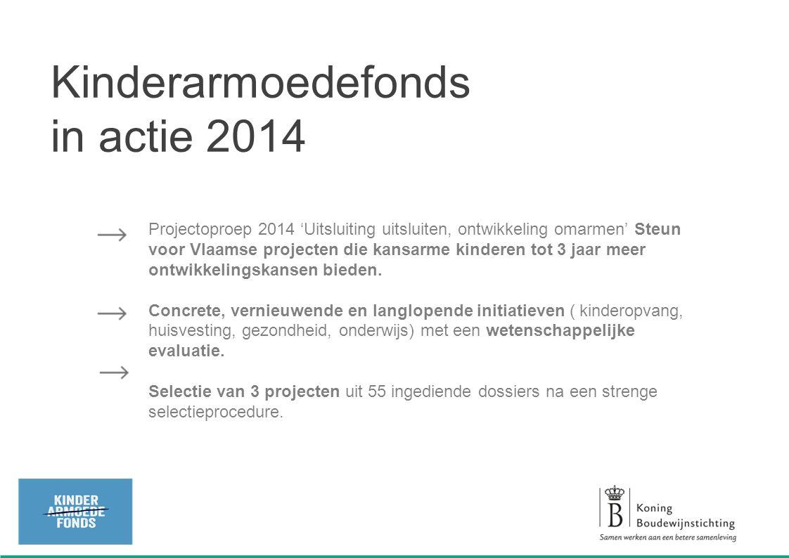 Projectoproep 2014 'Uitsluiting uitsluiten, ontwikkeling omarmen' Steun voor Vlaamse projecten die kansarme kinderen tot 3 jaar meer ontwikkelingskans