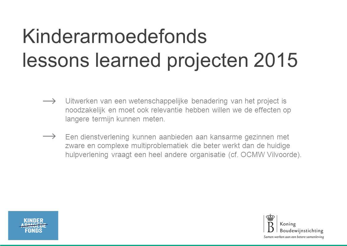 De projecten kaarten ook bestaande knelpunten aan in de systemen (o.a.