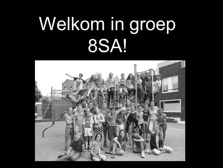 Welkom in groep 8SA!