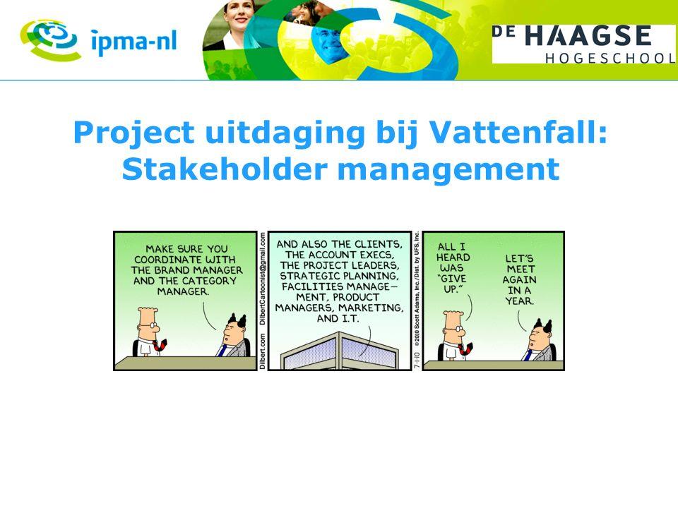 Project uitdaging bij Vattenfall: Stakeholder management