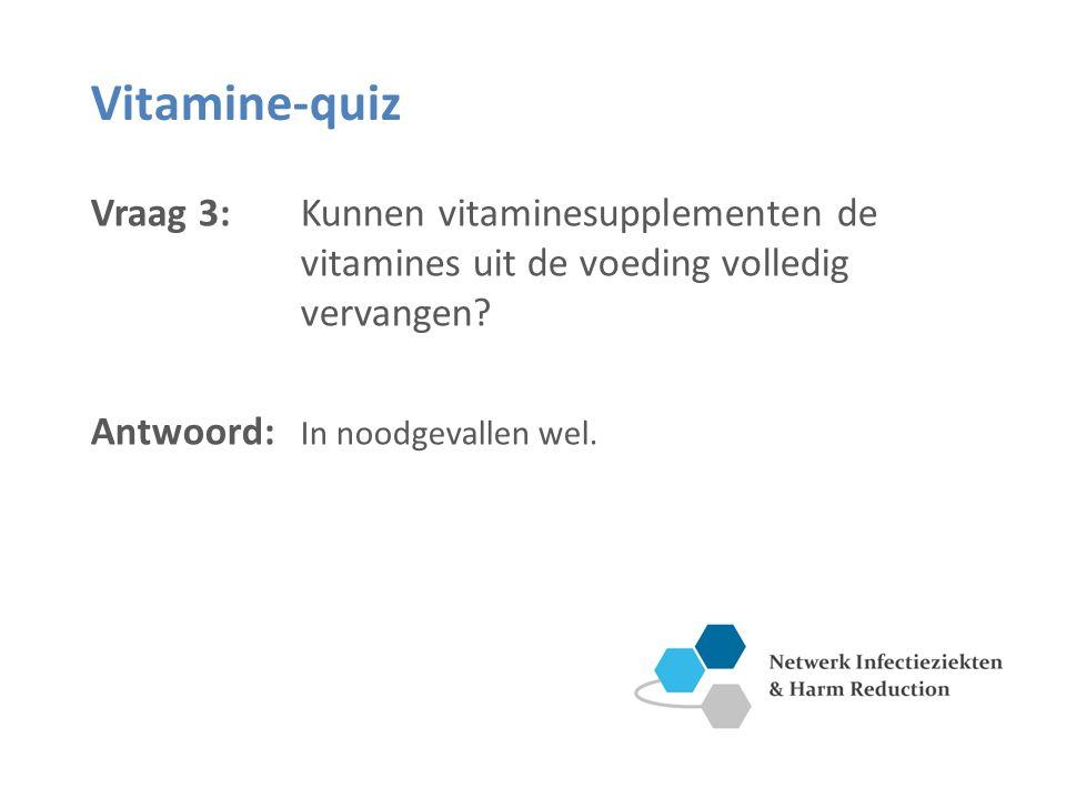 Vitamine-quiz Vraag 4: Wat wordt precies bedoeld met het vitamine B-complex.