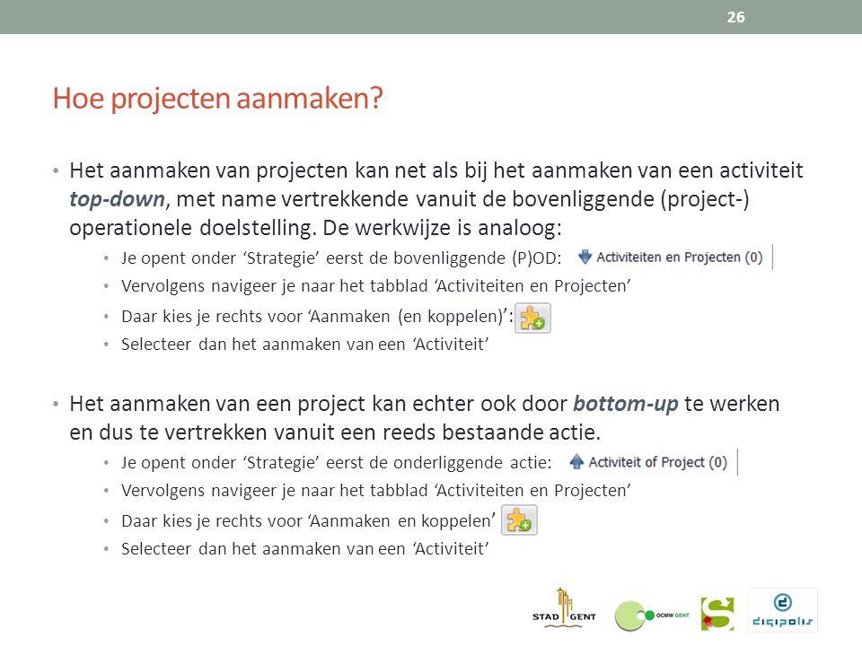 Hoe projecten aanmaken.