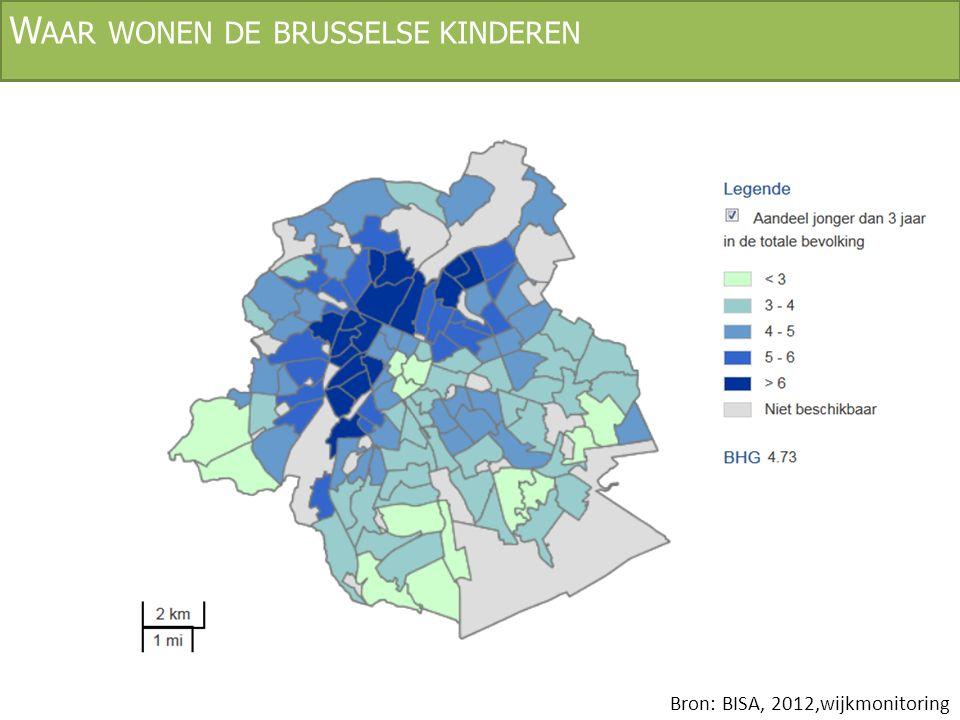 V OORZIENINGEN : KINDEROPVANG Bron: BISA, 2010, Demografische ontwikkeling en kinderdagverblijven