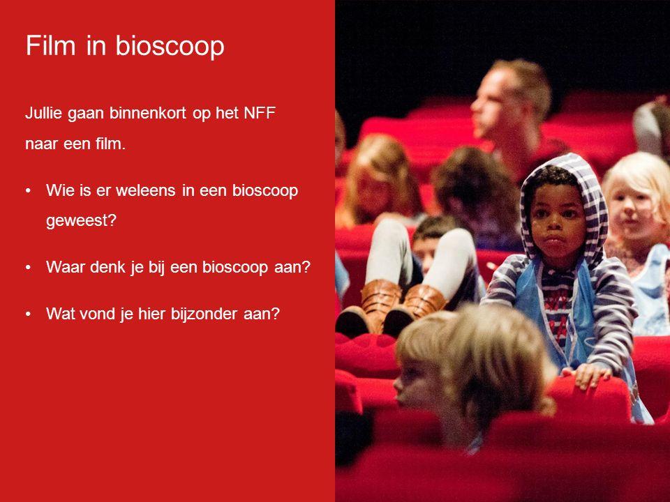 Jullie gaan binnenkort op het NFF naar een film. Wie is er weleens in een bioscoop geweest? Waar denk je bij een bioscoop aan? Wat vond je hier bijzon