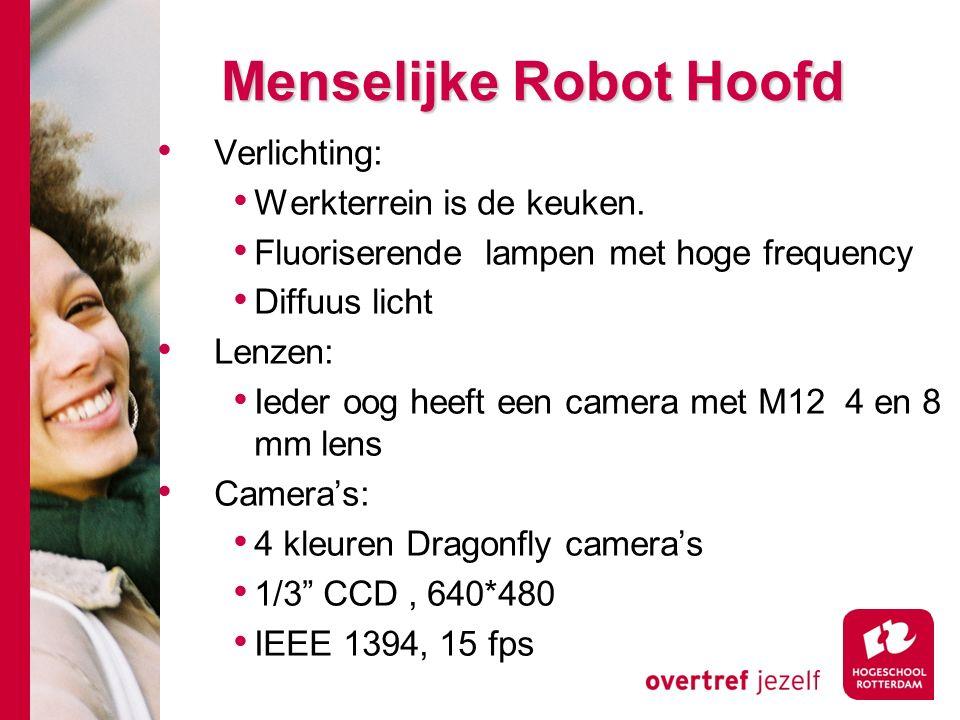# Menselijke Robot Hoofd Verlichting: Werkterrein is de keuken.