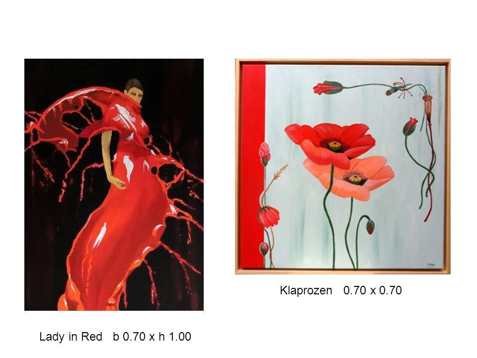 Lady in Red b 0.70 x h 1.00 Klaprozen 0.70 x 0.70