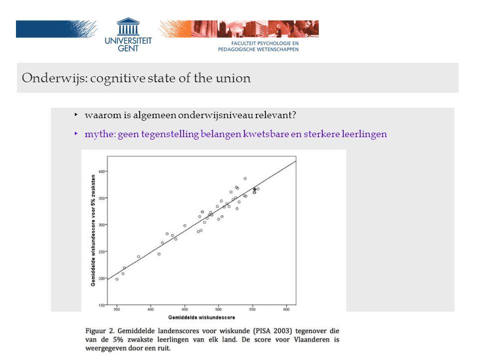 Onderwijs en welvaart: een cognitief-psychologisch perspectief wouter.duyck@ugent.be Onderwijs: cognitive state of the union ‣ waarom is algemeen onde