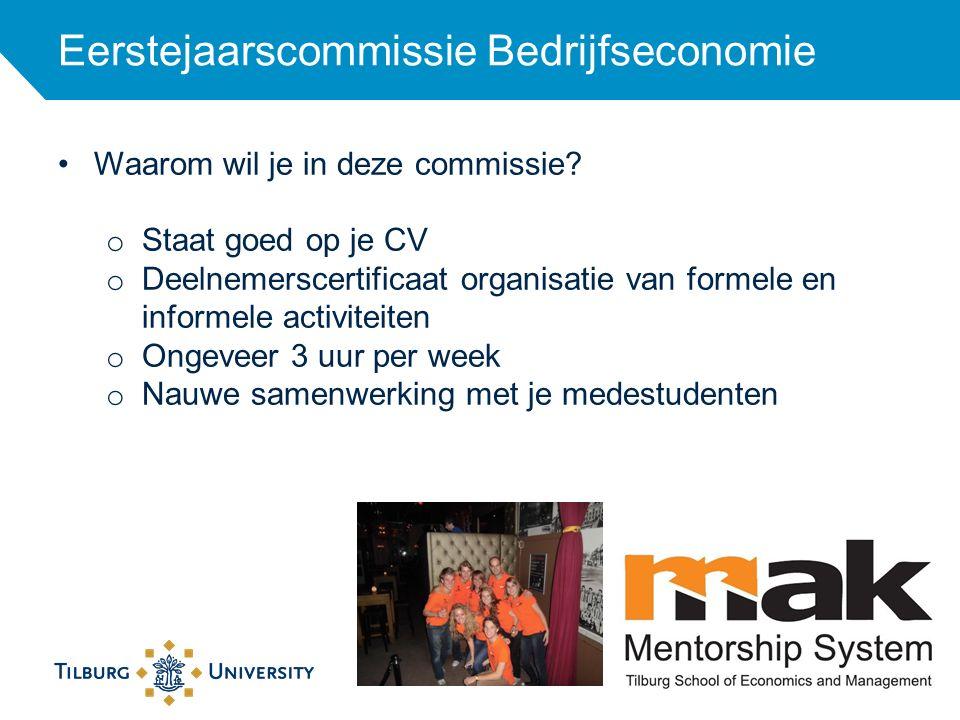 Eerstejaarscommissie Bedrijfseconomie 21 Waarom wil je in deze commissie? o Staat goed op je CV o Deelnemerscertificaat organisatie van formele en inf