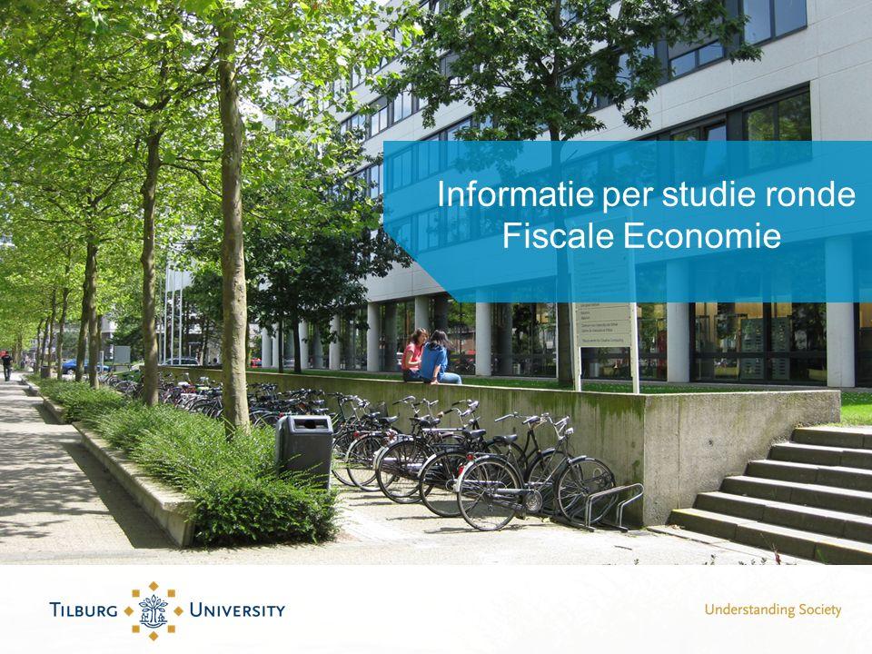 Informatie per studie ronde Fiscale Economie