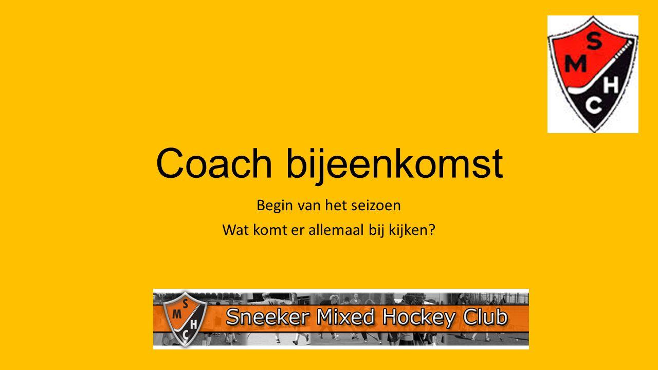 Coach bijeenkomst Begin van het seizoen Wat komt er allemaal bij kijken?