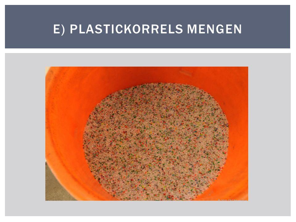 E) PLASTICKORRELS MENGEN