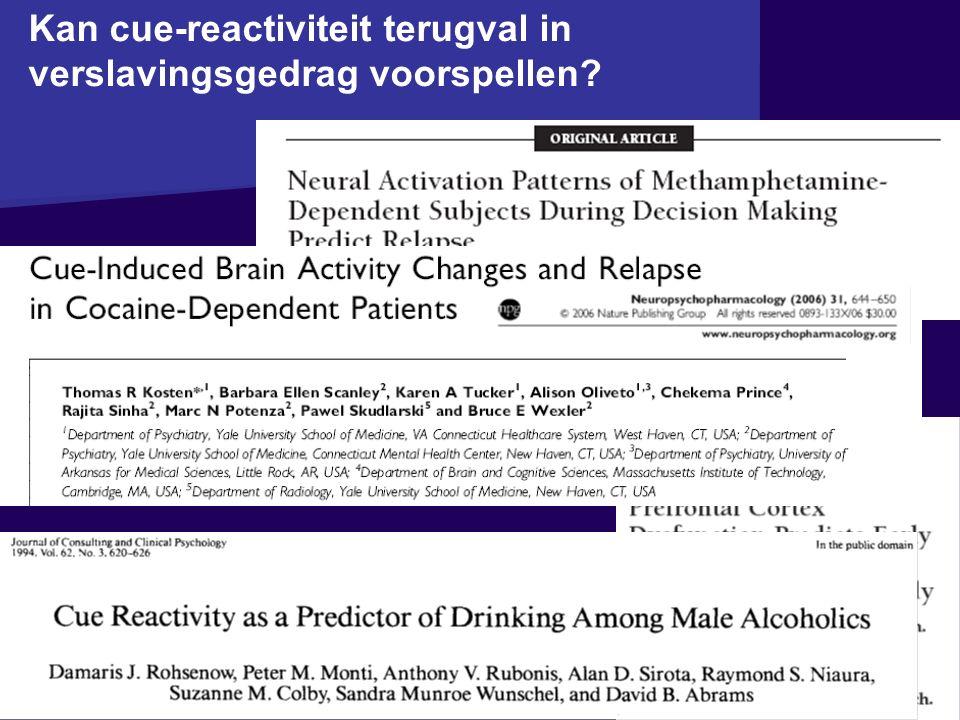Kan cue-reactiviteit terugval in verslavingsgedrag voorspellen?