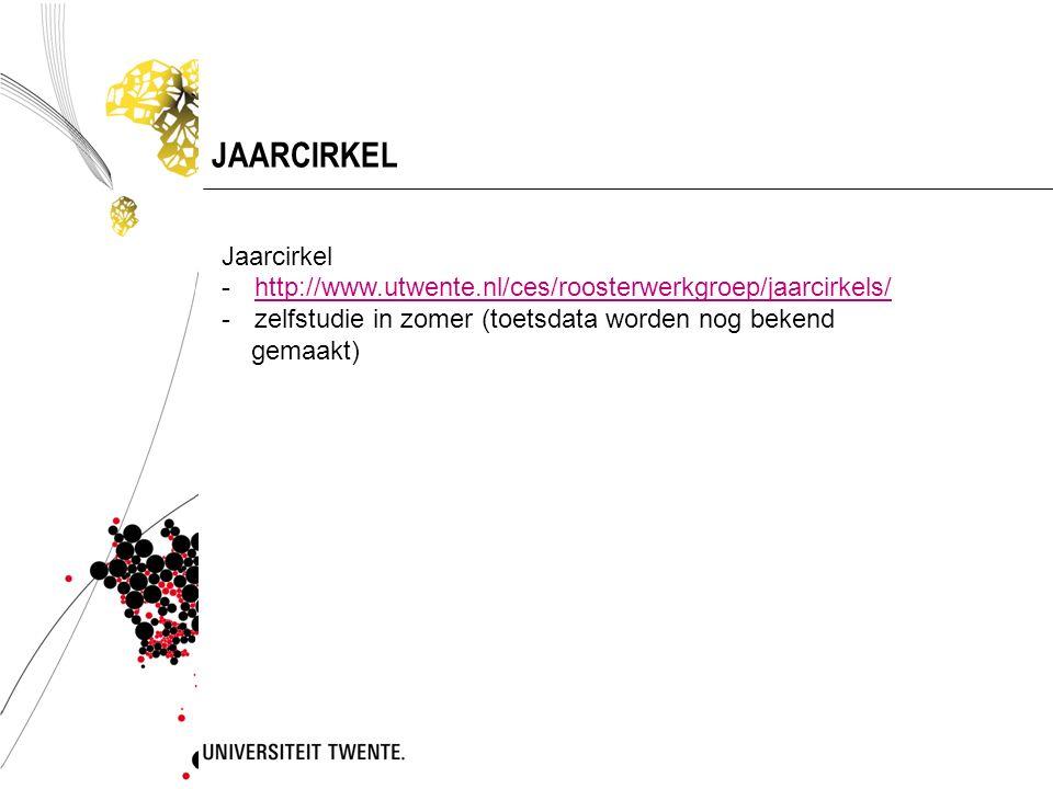 JAARCIRKEL Jaarcirkel -http://www.utwente.nl/ces/roosterwerkgroep/jaarcirkels/http://www.utwente.nl/ces/roosterwerkgroep/jaarcirkels/ -zelfstudie in z