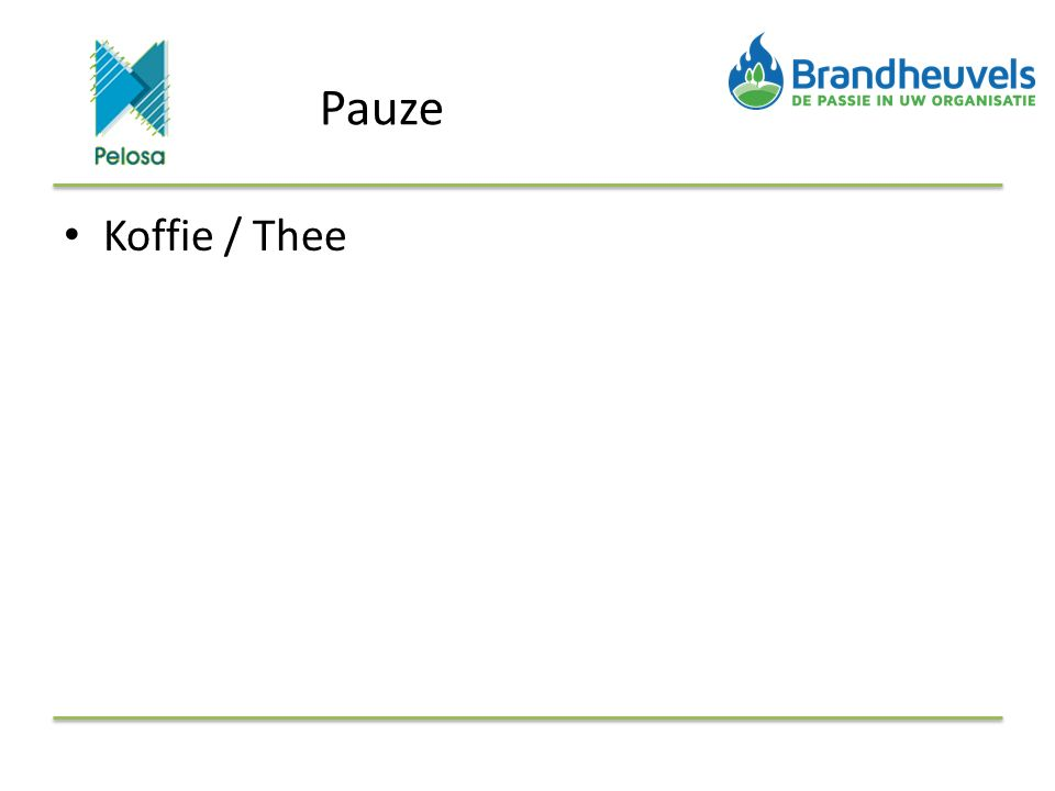 Pauze Koffie / Thee