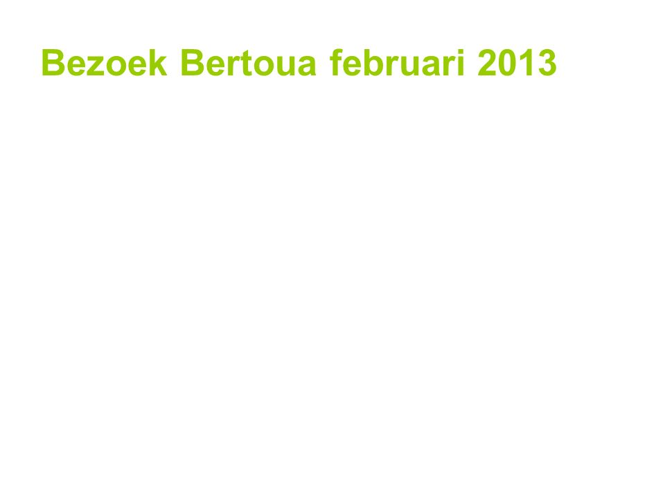 Project Clean water for Bertoua inleiding project RC 'Veenendaal' doel bezoek februari 2013 resultaten financiën toekomst dank