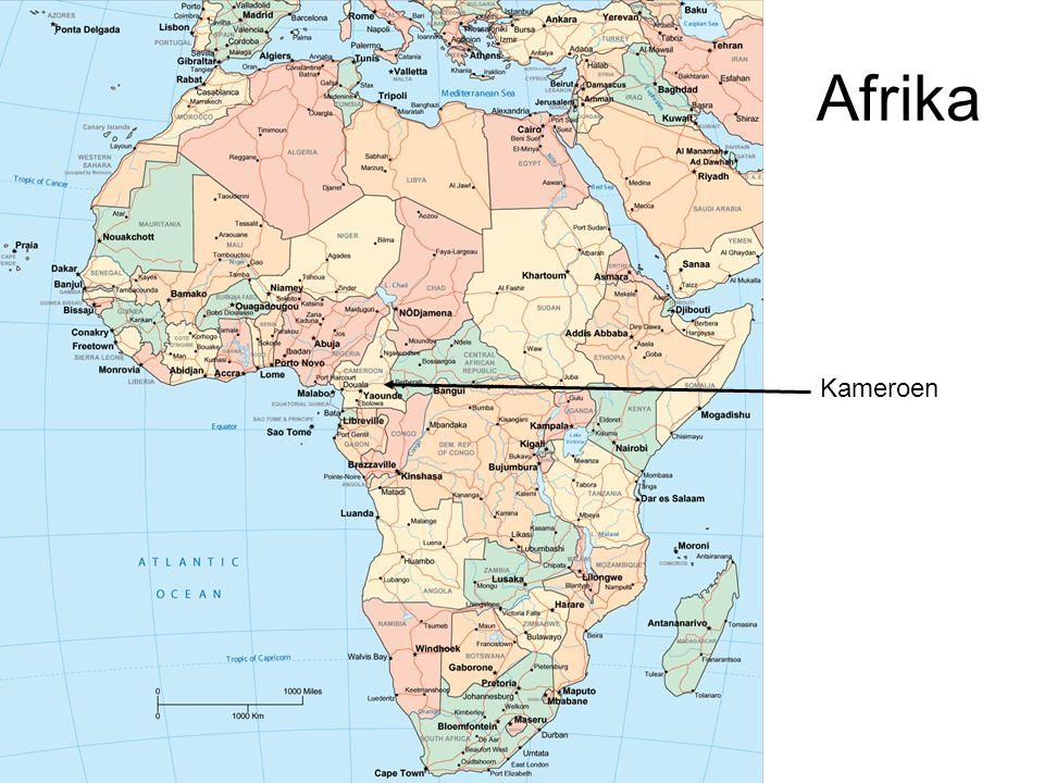 Kaart Kameroen Bertoua Yaoundé