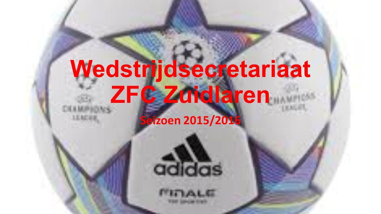 Wedstrijdsecretariaat ZFC Zuidlaren Seizoen 2015/2016