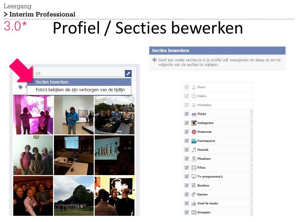 Profiel / Secties bewerken 6