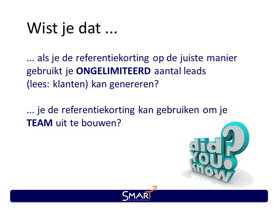 Wist je dat...... als je de referentiekorting op de juiste manier gebruikt je ONGELIMITEERD aantal leads (lees: klanten) kan genereren?... je de refer
