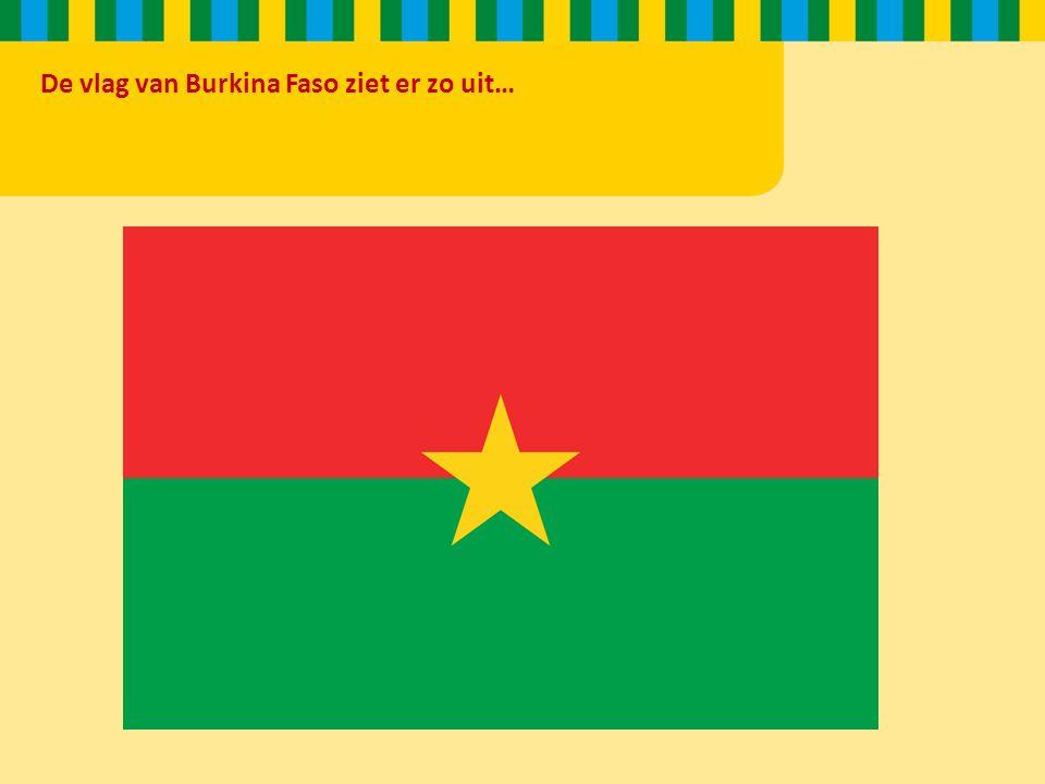 De vlag van Burkina Faso ziet er zo uit…