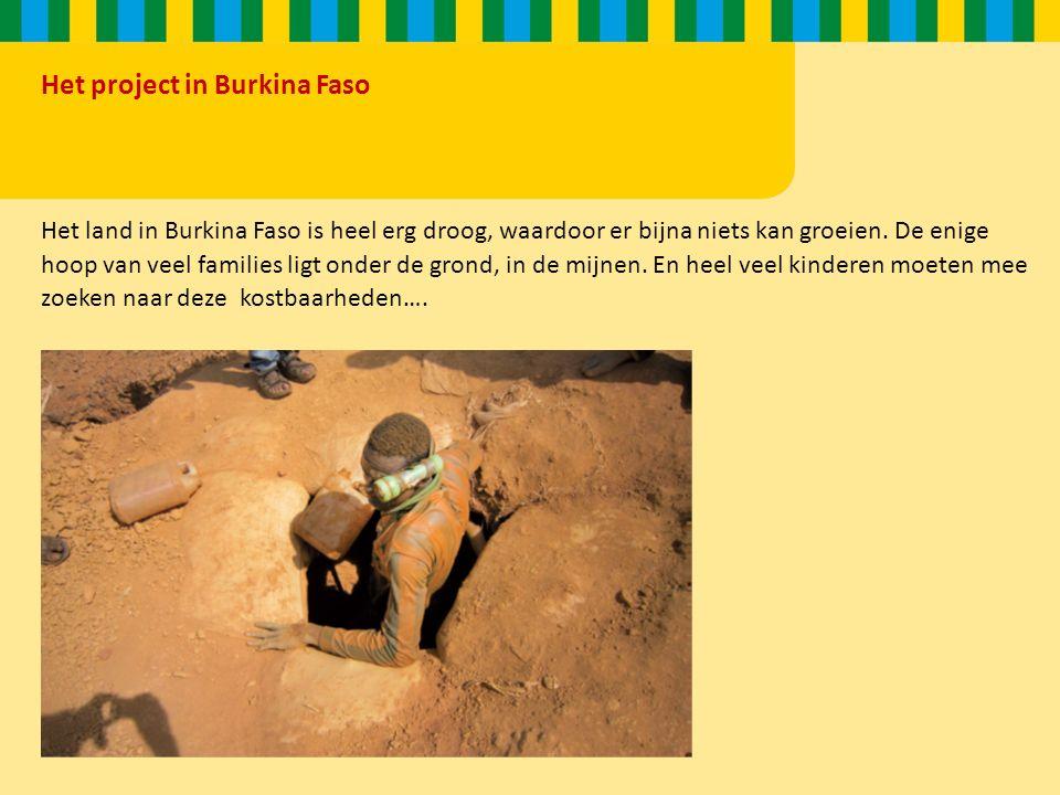 Het project in Burkina Faso Het land in Burkina Faso is heel erg droog, waardoor er bijna niets kan groeien.