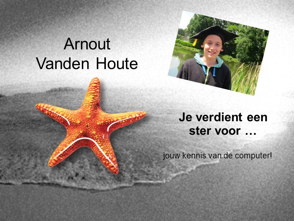 Arnout Vanden Houte Je verdient een ster voor … jouw kennis van de computer!