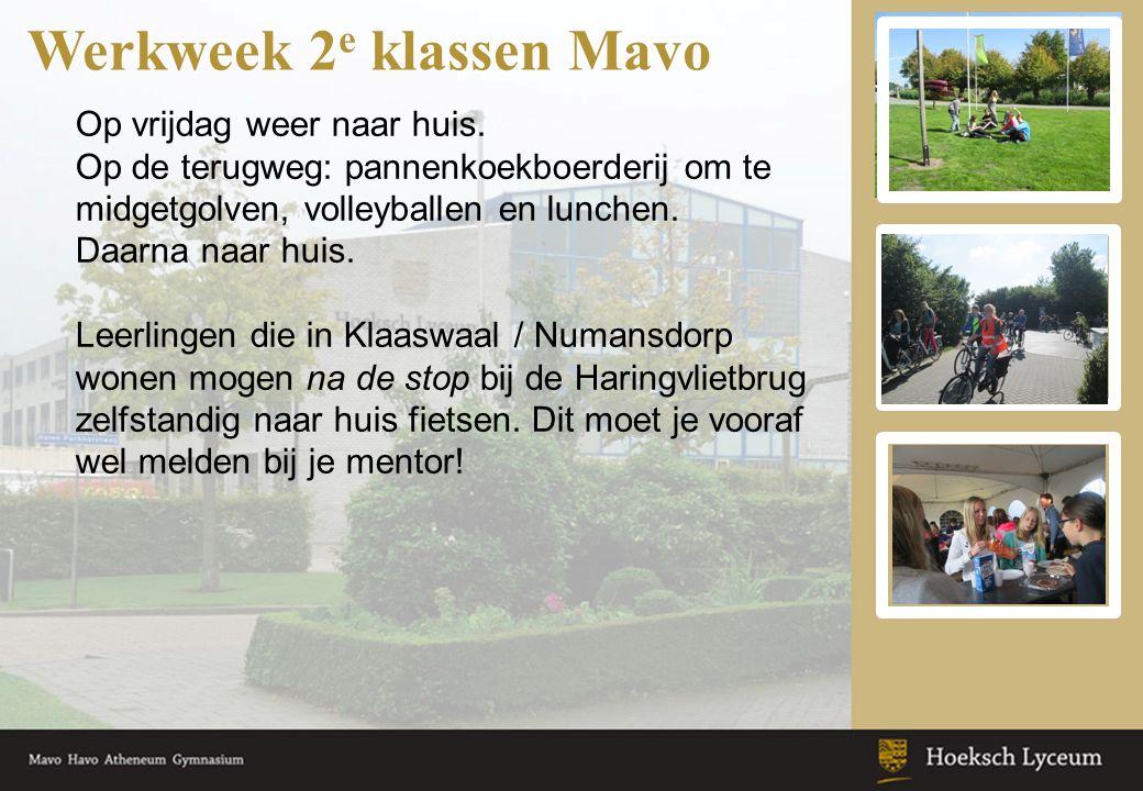 Werkweek 2 e klassen Mavo Op vrijdag weer naar huis. Op de terugweg: pannenkoekboerderij om te midgetgolven, volleyballen en lunchen. Daarna naar huis
