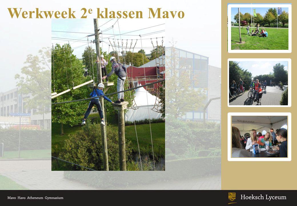 Werkweek 2 e klassen Mavo