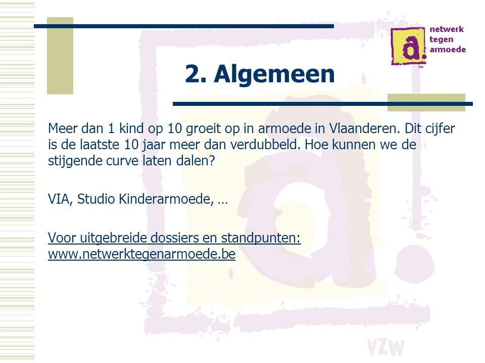 2. Algemeen Meer dan 1 kind op 10 groeit op in armoede in Vlaanderen.