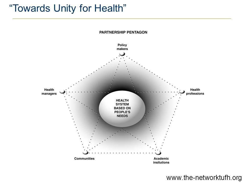 """Towards Unity for Health"" www.the-networktufh.org"