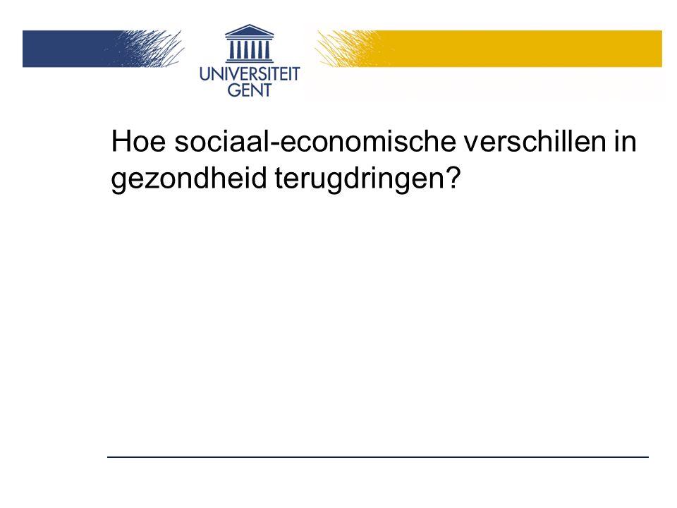 Hoe sociaal-economische verschillen in gezondheid terugdringen?