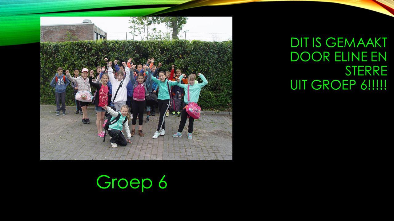 DIT IS GEMAAKT DOOR ELINE EN STERRE UIT GROEP 6!!!!! Groep 6