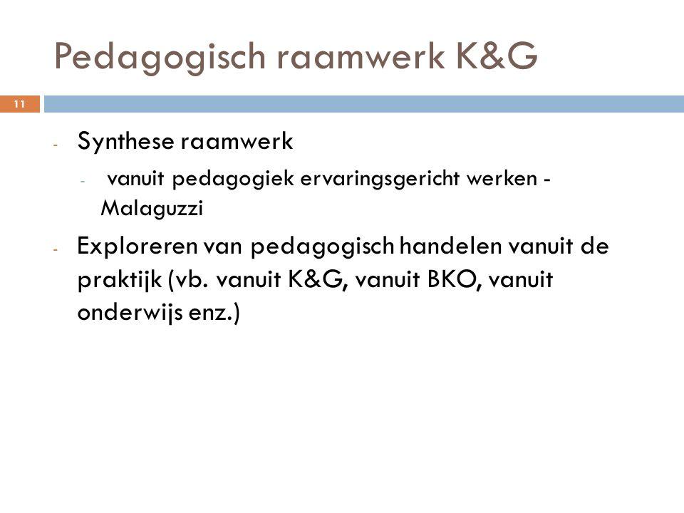 Pedagogisch raamwerk K&G - Synthese raamwerk - vanuit pedagogiek ervaringsgericht werken - Malaguzzi - Exploreren van pedagogisch handelen vanuit de p